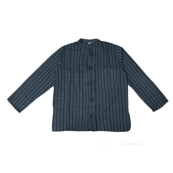 長袖ストライプクルタ / 送料無料 男性用シャツ 長袖シャツ レビューでタイカレープレゼント|tirakita-shop|33