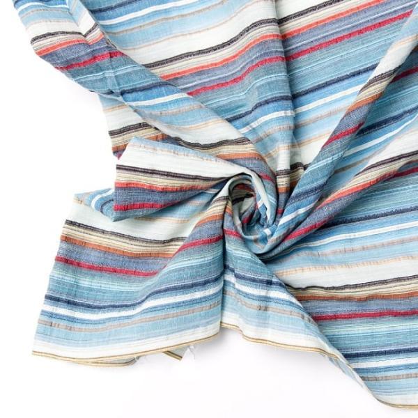 インド綿 切売り ルンギー マルチクロス インドの伝統布 ボーダー柄のルンギー用コットン布 〔幅110cm|tirakita-shop|12