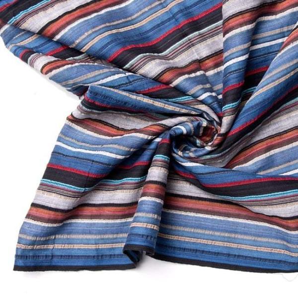 インド綿 切売り ルンギー マルチクロス インドの伝統布 ボーダー柄のルンギー用コットン布 〔幅110cm|tirakita-shop|16