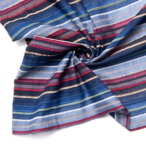 インド綿 切売り ルンギー マルチクロス インドの伝統布 ボーダー柄のルンギー用コットン布 〔幅110cm|tirakita-shop|14