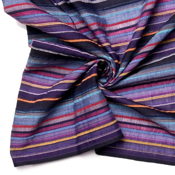 インド綿 切売り ルンギー マルチクロス インドの伝統布 ボーダー柄のルンギー用コットン布 〔幅110cm|tirakita-shop|13
