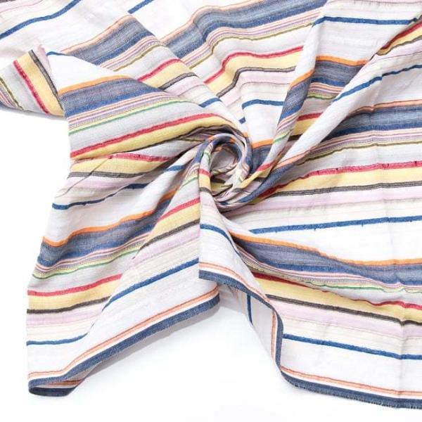 インド綿 切売り ルンギー マルチクロス インドの伝統布 ボーダー柄のルンギー用コットン布 〔幅110cm|tirakita-shop|19