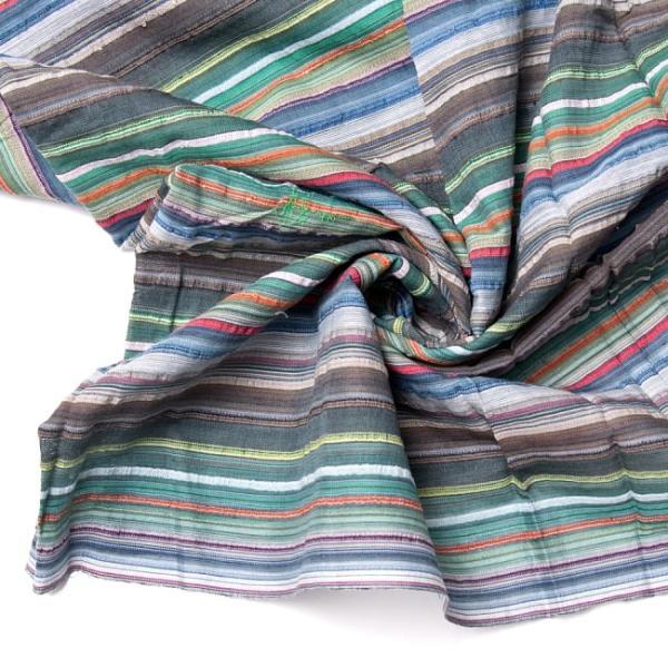 インド綿 切売り ルンギー マルチクロス インドの伝統布 ボーダー柄のルンギー用コットン布 〔幅110cm|tirakita-shop|21