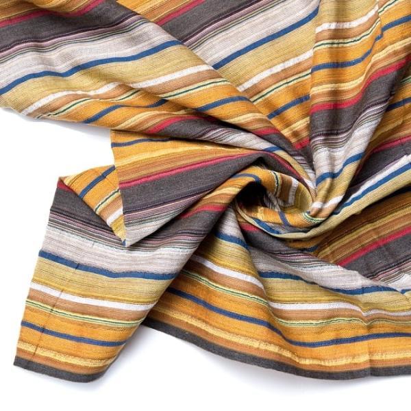 インド綿 切売り ルンギー マルチクロス インドの伝統布 ボーダー柄のルンギー用コットン布 〔幅110cm|tirakita-shop|22