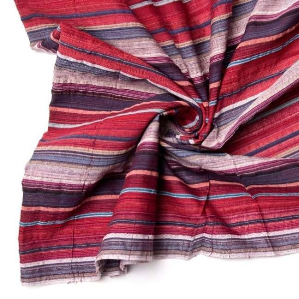 インド綿 切売り ルンギー マルチクロス インドの伝統布 ボーダー柄のルンギー用コットン布 〔幅110cm|tirakita-shop|17