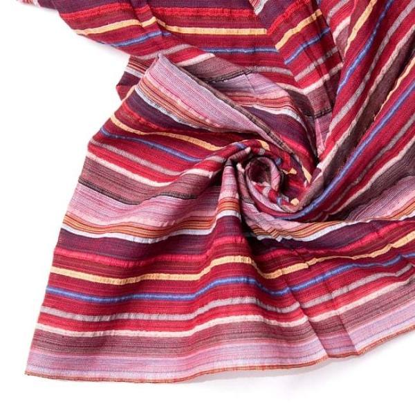 インド綿 切売り ルンギー マルチクロス インドの伝統布 ボーダー柄のルンギー用コットン布 〔幅110cm|tirakita-shop|18