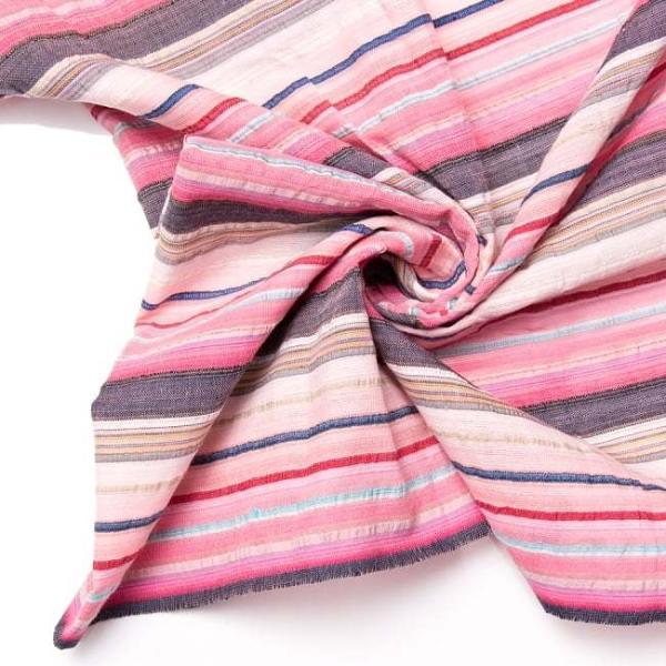 インド綿 切売り ルンギー マルチクロス インドの伝統布 ボーダー柄のルンギー用コットン布 〔幅110cm|tirakita-shop|20