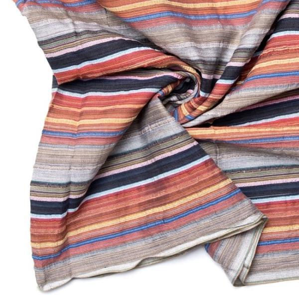 インド綿 切売り ルンギー マルチクロス インドの伝統布 ボーダー柄のルンギー用コットン布 〔幅110cm|tirakita-shop|23