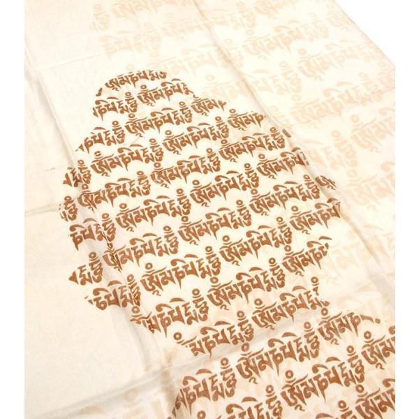 ラムナミ チベット 布 (160cm×70cm)ヒストリーブッダのファンシーストール ショール ドゥパッタ スカーフ レディース エスニック衣料 tirakita-shop 17