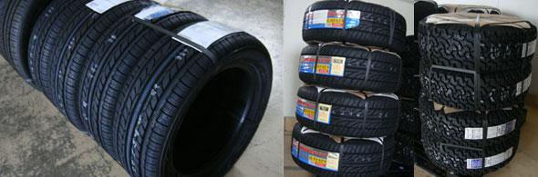 タイヤとタイヤホイールセットの梱包状態