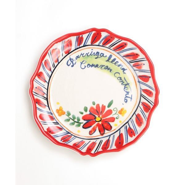 プレート 皿 小皿 中皿 夏 春 食器 取り皿 ケーキ皿 丸皿 キッチン カラフル インテリア プレゼント ギフト 贈り物 メキシコフラワー プレート ziscc2422 titicaca-y 12