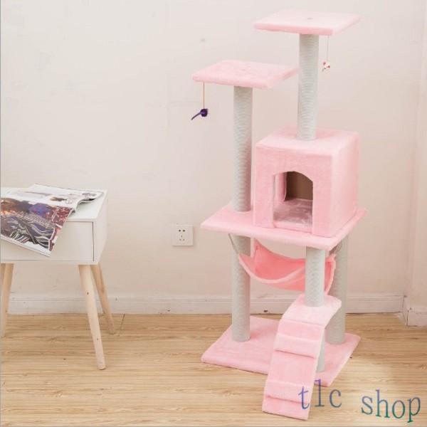 キャットタワー  据え置き型 猫タワー ハウス おもちゃ 麻紐 爪とぎ付き 室内飼い 省スペース 猫のストレス解消 運動不足 おしゃれ 中型|tlcshop|15