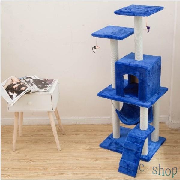 キャットタワー  据え置き型 猫タワー ハウス おもちゃ 麻紐 爪とぎ付き 室内飼い 省スペース 猫のストレス解消 運動不足 おしゃれ 中型|tlcshop|20