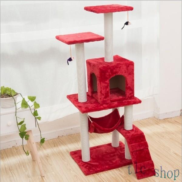 キャットタワー  据え置き型 猫タワー ハウス おもちゃ 麻紐 爪とぎ付き 室内飼い 省スペース 猫のストレス解消 運動不足 おしゃれ 中型|tlcshop|17