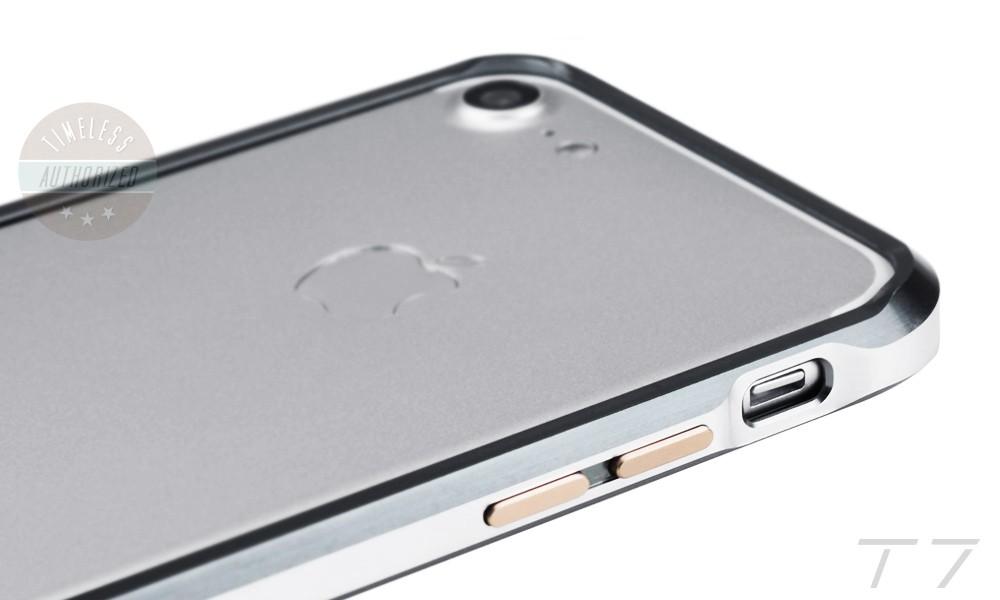 02d0e4b440 iPhone7 バンパー アルミ ケース アイフォン7 T7 カメラ レンズガード ストラップホール付