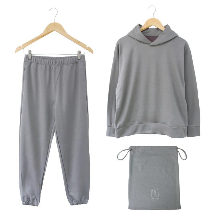 ルームウェア メンズ 日本製 上下セット 長袖 部屋着 3点セット CHILLCRIB and 1mile チルクリブ アンド ワンマイル Relax wear (cc-m1001)|tn-square|15