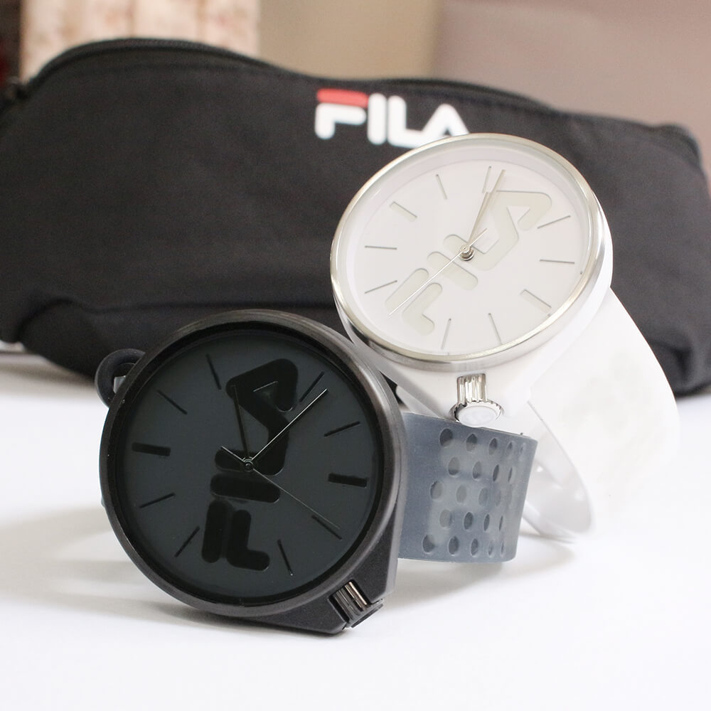 おソロコーデ フィラ 腕時計 ペア腕時計 オシャレ 白 黒 モノトーン 日本限定モデル japanlimited