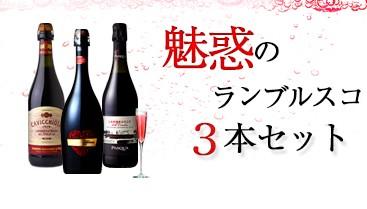 ランブルスコ3本セット 赤 微発泡 やや甘口 イタリア ワイン