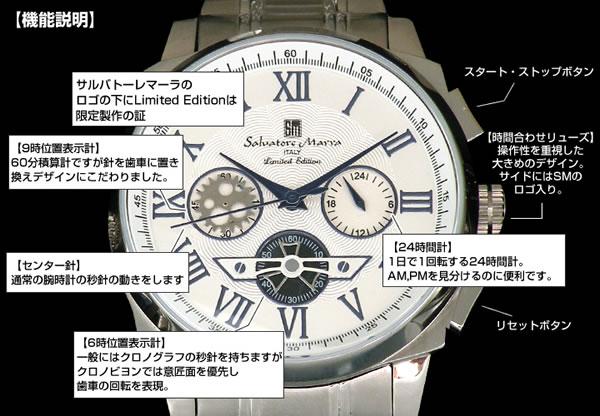 サルバトーレマーラ Salvatore Marra メンズ 腕時計 クロノグラフ