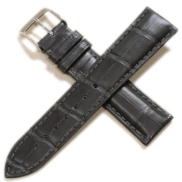 時計ベルト メンズ カシス アドナラカウチック アリゲーター竹斑(裏ラバー)18mm 19mm 20mm 21mm 22mm|tokeiyanet|19