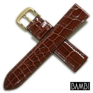 バンビ グレーシャス クロコダイル竹斑 時計ベルト 対応サイズ:17mm,18mm,19mm,20mm