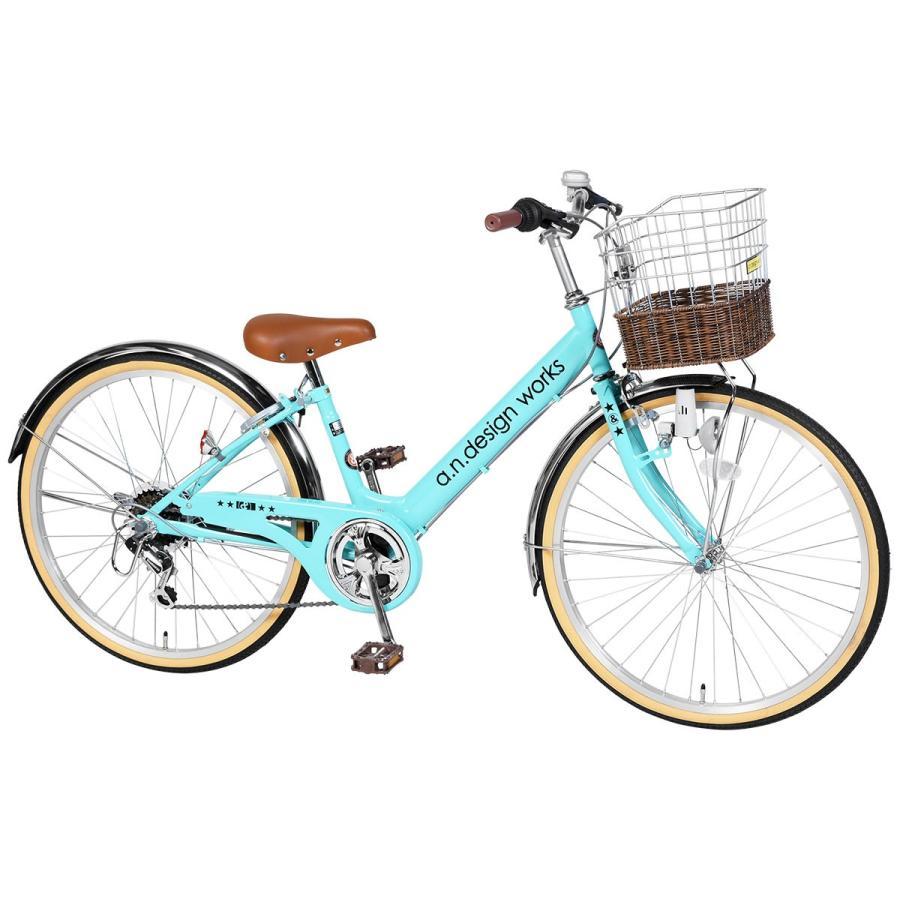 子供用 自転車 22インチ 本体 小学生 男の子 女の子 変速 125~145cm 6歳 7歳 8歳 9歳 10歳 11歳 お客様組立 アウトレット a.n.design works V226|tokyo-depo|09