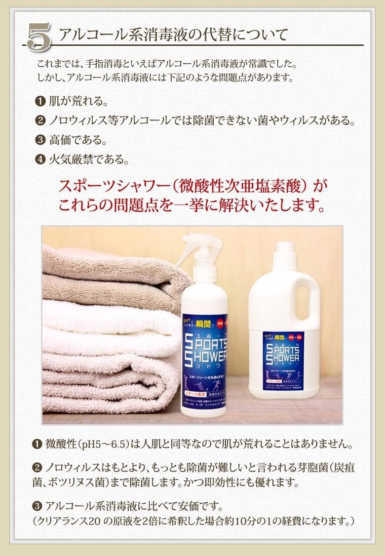 スポーツシャワー 除菌消臭スプレー 280ml