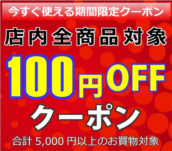 今すぐ使える!100円OFFクーポン