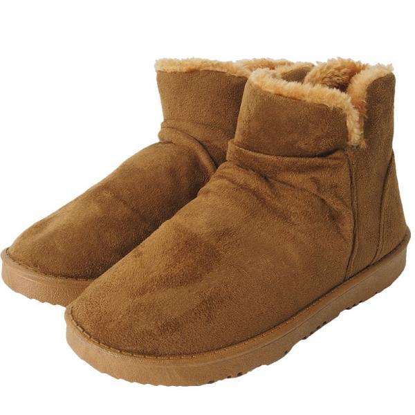 ムートンブーツ メンズ ブーツ エンジニアブーツ ショートブーツ インヒール付 裏ボア 裏起毛 サイドジップブーツ 無地 靴 秋冬 暖か 防寒 ファスナー|tool-power|30