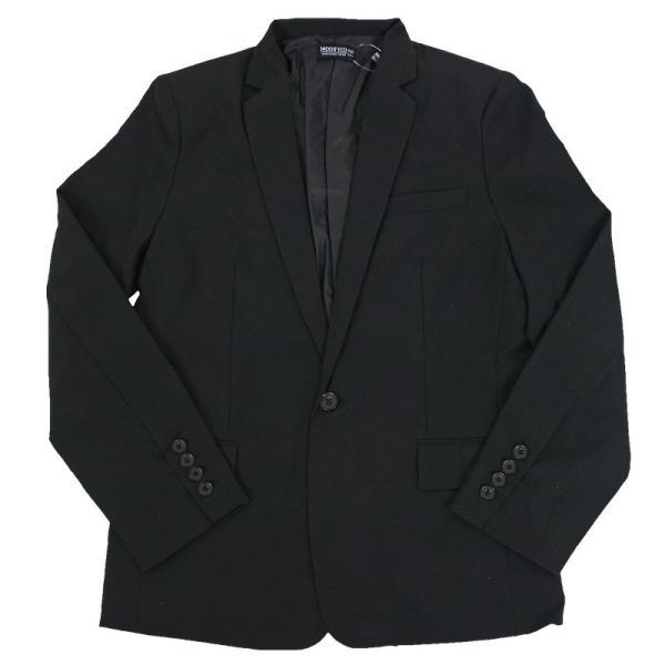 メンズテーラードジャケット ノッチドラペル スーツ生地 1B 無地 ショート タイトシルエット|topism|17