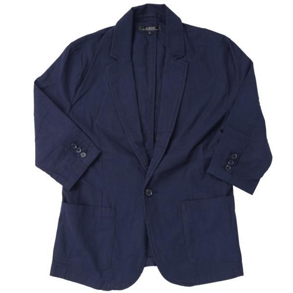 テーラードジャケット メンズ 綿麻 リネン 麻 7分袖 長袖 サマージャケット 綿 コットン ノッチドラペル メンズファッション 春夏|topism|24