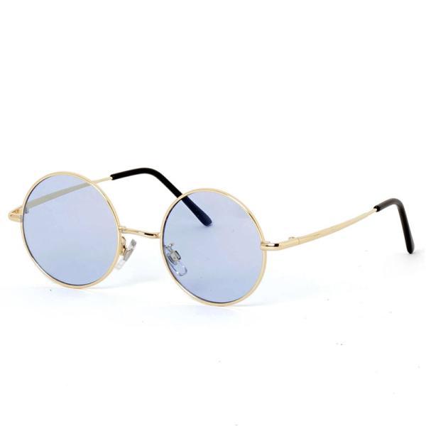 サングラス メンズ カラーレンズ 伊達メガネ 眼鏡 伊達めがね 丸メガネ ラウンドフレーム おしゃれ 人気 スモーク ライトカラー ブルー topism 20