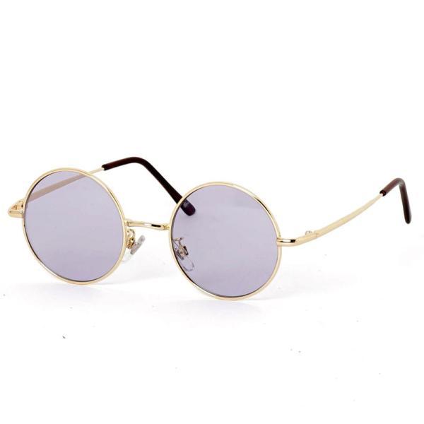 サングラス メンズ カラーレンズ 伊達メガネ 眼鏡 伊達めがね 丸メガネ ラウンドフレーム おしゃれ 人気 スモーク ライトカラー ブルー topism 22