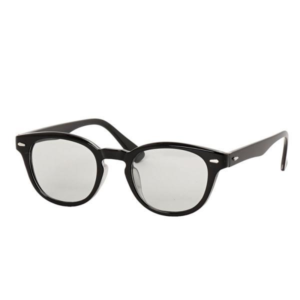 サングラス メンズ カラーレンズ 伊達メガネ 眼鏡 メガネ 伊達めがね 黒ぶち眼鏡 UVカット ウェリントン スモーク ライトカラー おしゃれ 人気 ブルー ブラック|topism|18