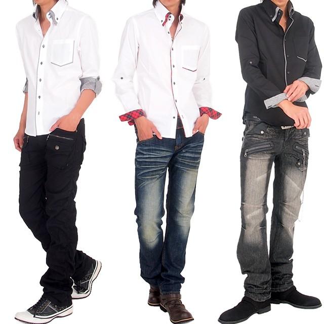 メンズファッション,メンズ,通販,2WAY,ロールアップ,ボタンダウン,W襟,グレンチェック,マドラスチェック,デュエボットー二,ブロード,長袖,きれい目,ドレスシャツ,カジュアルシャツ,トップス,シャツ,あすつく,GWP3488