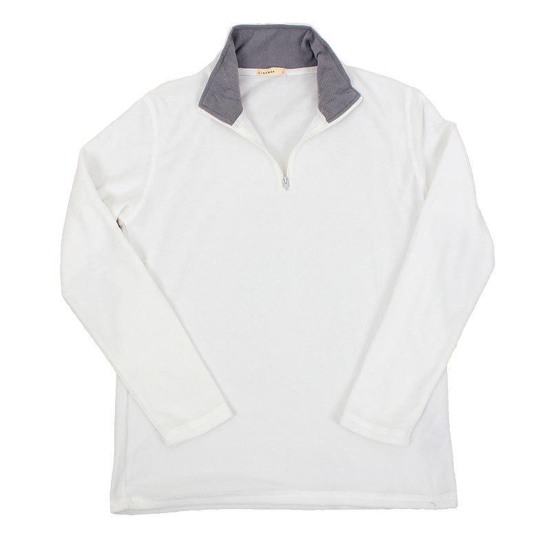 フリース メンズ トレーナー 暖あったか 無地 ハーフジップ ニット セーター トップス 秋冬|topism|22