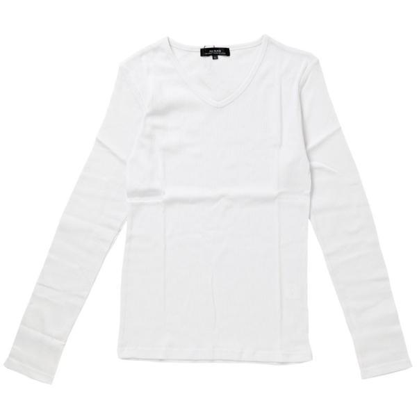 ロンT メンズ Tシャツ 長袖 ロングTシャツ テレコ素材 無地 Vネック カットソー リブ タイト 細身 トップス 伸縮 ストレッチ|topism|14
