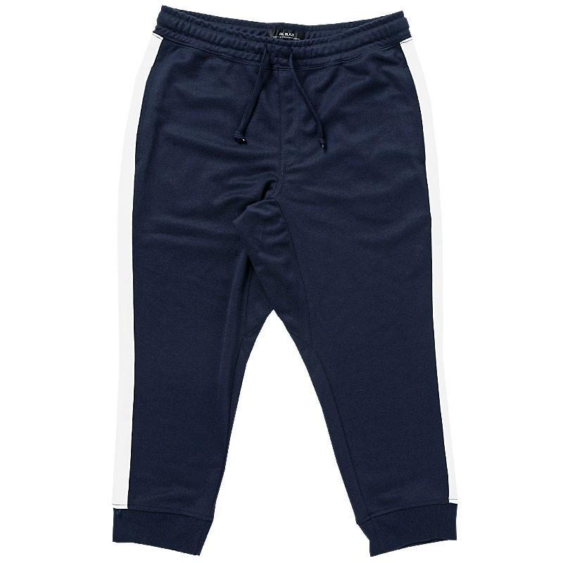 クロップドパンツ メンズ ジョガーパンツ サルエルパンツ スウェットパンツ 7分丈 ハーフパンツ 無地 ライン入り ボトムス 裾リブ|topism|31