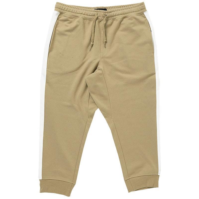 クロップドパンツ メンズ ジョガーパンツ サルエルパンツ スウェットパンツ 7分丈 ハーフパンツ 無地 ライン入り ボトムス 裾リブ|topism|32