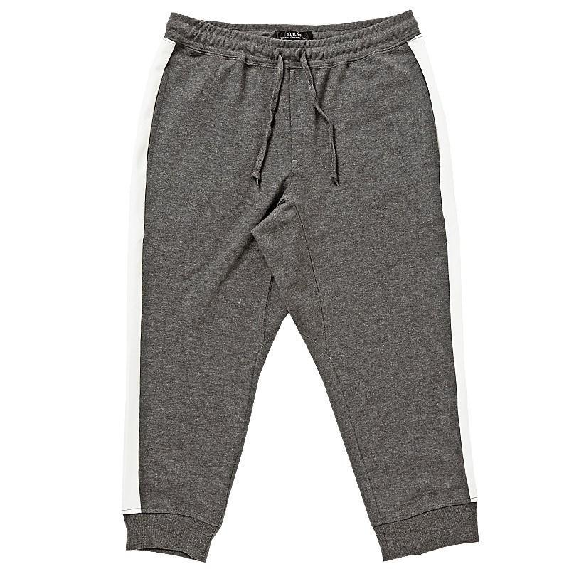クロップドパンツ メンズ ジョガーパンツ サルエルパンツ スウェットパンツ 7分丈 ハーフパンツ 無地 ライン入り ボトムス 裾リブ|topism|30