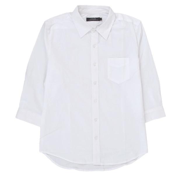 シャツ メンズ 無地 7分袖 カジュアルシャツ 半袖 ストレッチ 白シャツ トップス ブロード 綿 コットン ドレスシャツ メンズファッション 七分袖シャツ topism 21
