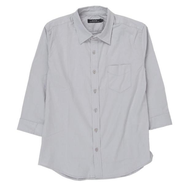 シャツ メンズ 無地 7分袖 カジュアルシャツ 半袖 ストレッチ 白シャツ トップス ブロード 綿 コットン ドレスシャツ メンズファッション 七分袖シャツ topism 23