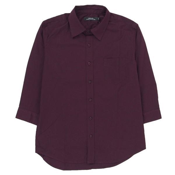 シャツ メンズ 無地 7分袖 カジュアルシャツ 半袖 ストレッチ 白シャツ トップス ブロード 綿 コットン ドレスシャツ メンズファッション 七分袖シャツ topism 25