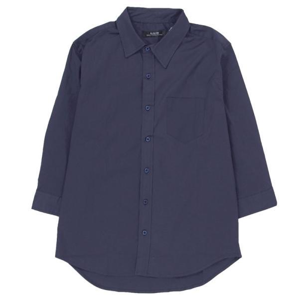 シャツ メンズ 無地 7分袖 カジュアルシャツ 半袖 ストレッチ 白シャツ トップス ブロード 綿 コットン ドレスシャツ メンズファッション 七分袖シャツ topism 26