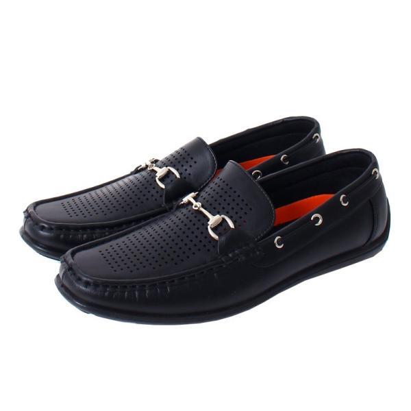 ドライビングシューズ メンズ カジュアルシューズ ローファー ローカット モカシン 短靴 靴 オペラシューズ メッシュ ビット 春 夏 メンズファッション|topism|10