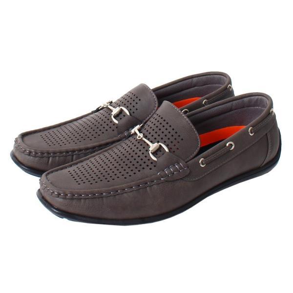 ドライビングシューズ メンズ カジュアルシューズ ローファー ローカット モカシン 短靴 靴 オペラシューズ メッシュ ビット 春 夏 メンズファッション|topism|11