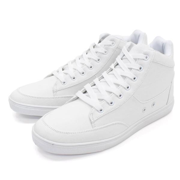 スニーカー メンズ ハイカット ローカット レースアップ ホワイトスニーカー 白スニーカー 黒 ブラック フェイクレザー シューズ 靴|topism|15