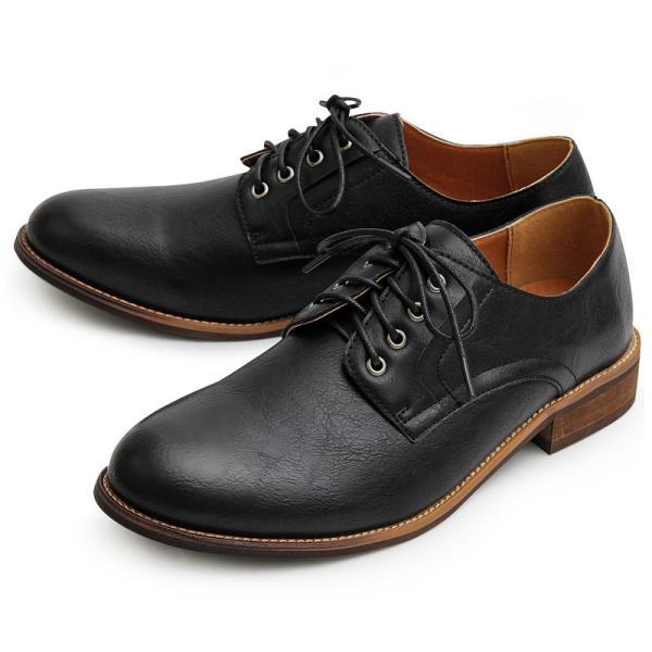 オックスフォードシューズ メンズ バブーシュ カジュアルシューズ レースアップ ローカット プレーントゥ メンズファッション メンズ靴 靴 短靴 紳士靴|topism|22