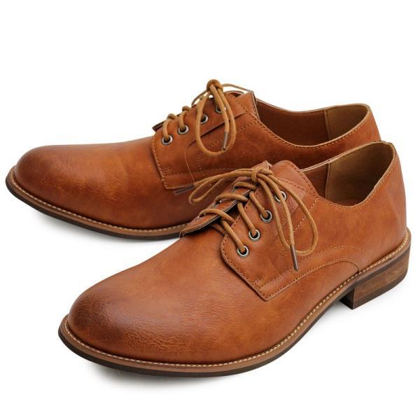 オックスフォードシューズ メンズ バブーシュ カジュアルシューズ レースアップ ローカット プレーントゥ メンズファッション メンズ靴 靴 短靴 紳士靴|topism|23