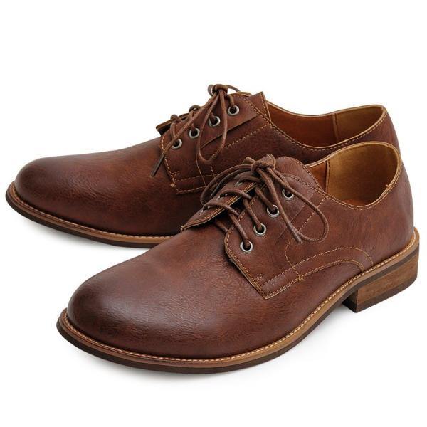 オックスフォードシューズ メンズ バブーシュ カジュアルシューズ レースアップ ローカット プレーントゥ メンズファッション メンズ靴 靴 短靴 紳士靴|topism|24